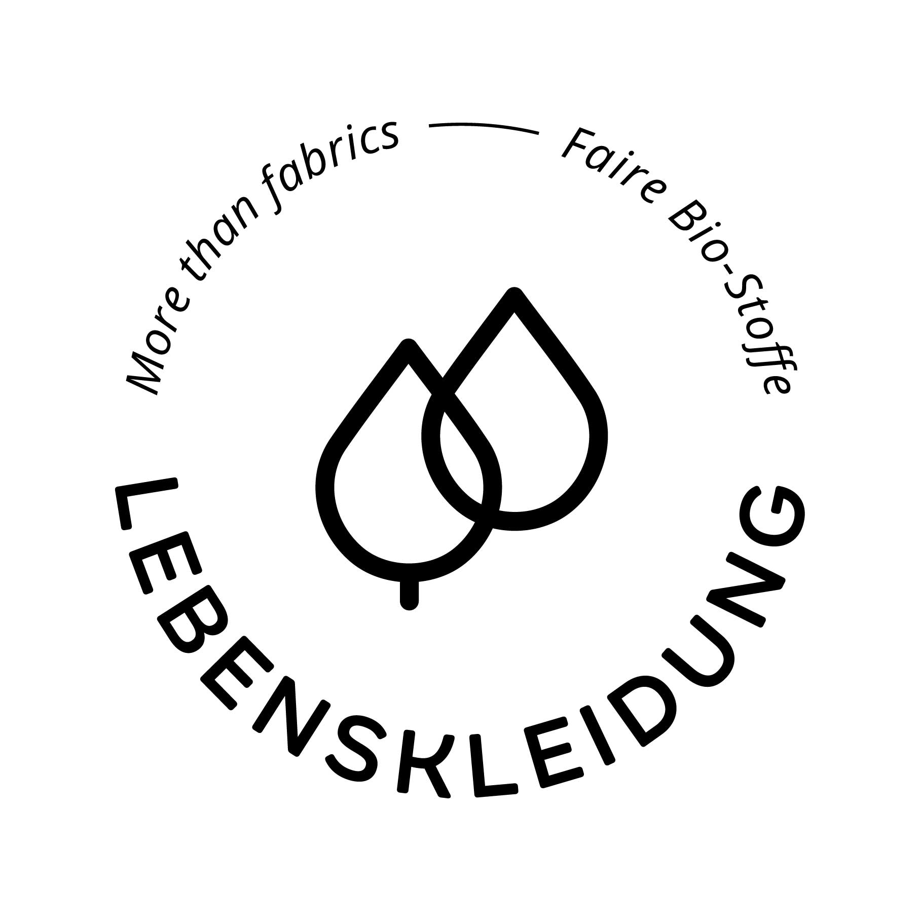 Bündchen Stoff Bio  - Schwarz