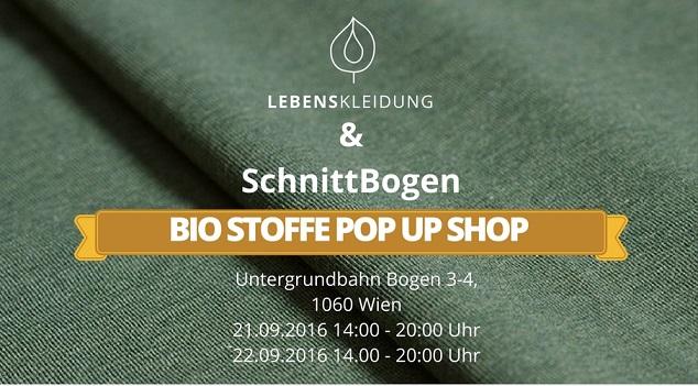 Der Lebenskleidung Stoff Pop Up Shop in Wien