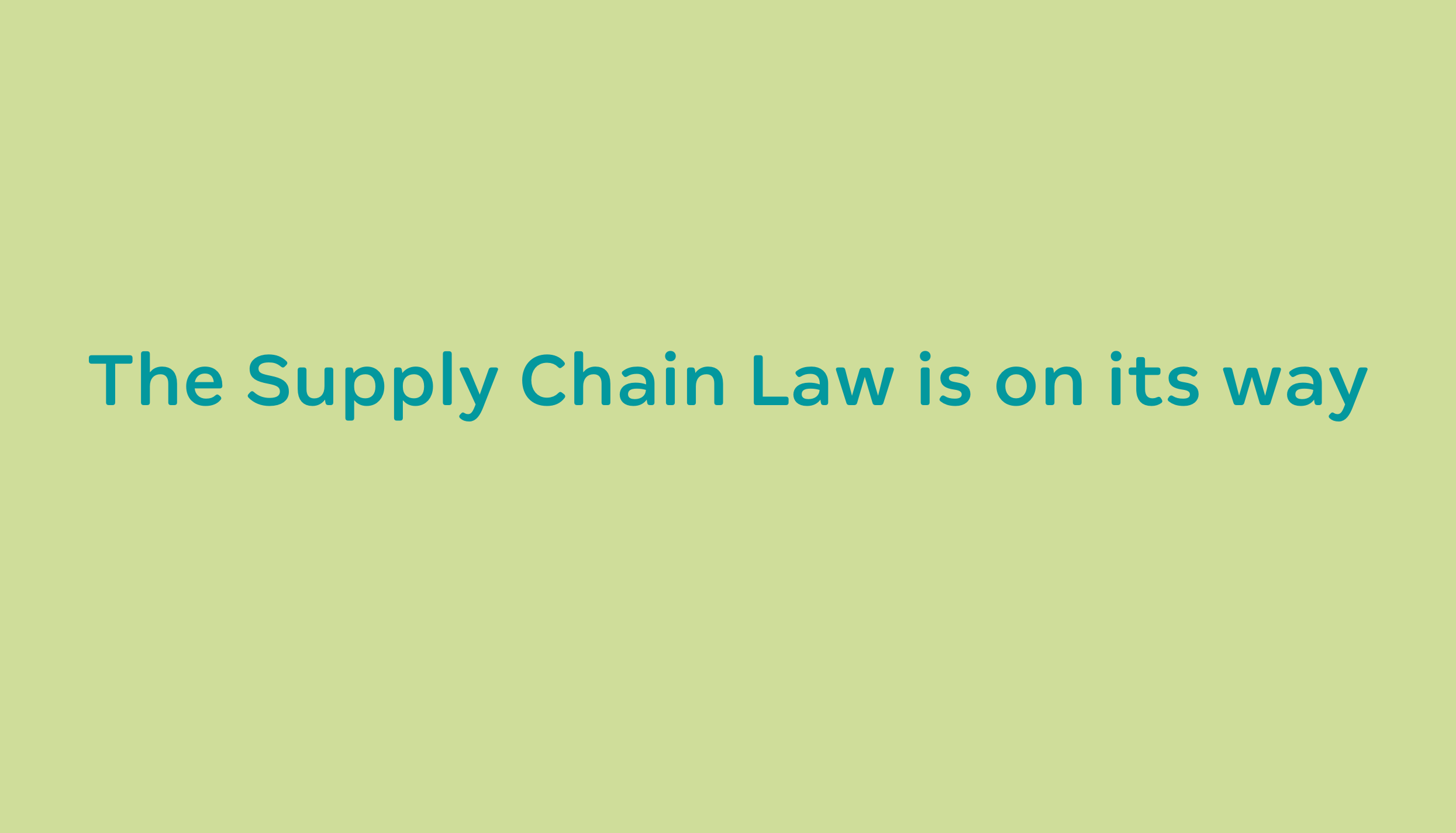 German Supply Chain Law