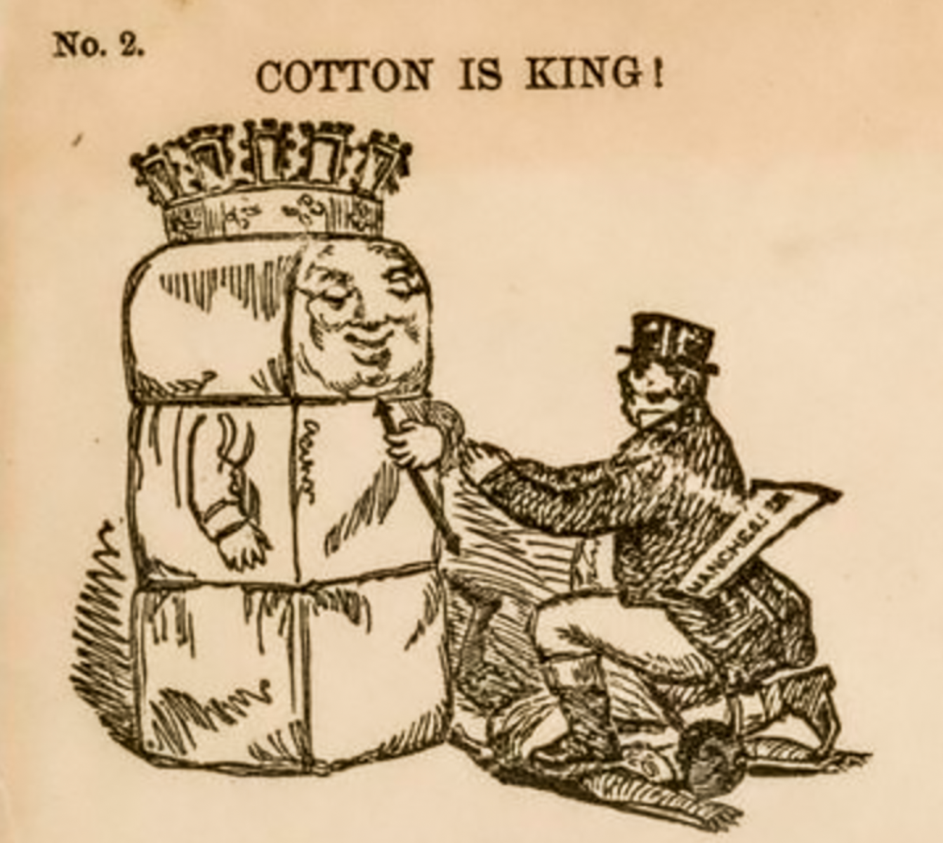 Political Cartoon dating 1861